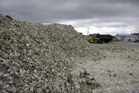 Кучи устричных раковин после переработки. Северная Каролина.